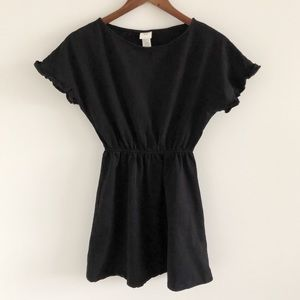H&M LOGG Black Short Sleeve Mini Dress XS